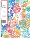 Abrie James Planner 2019-2020 Monthly Weekly Academic Planner, 8.5 x 11 inches, Tropical Student Planner