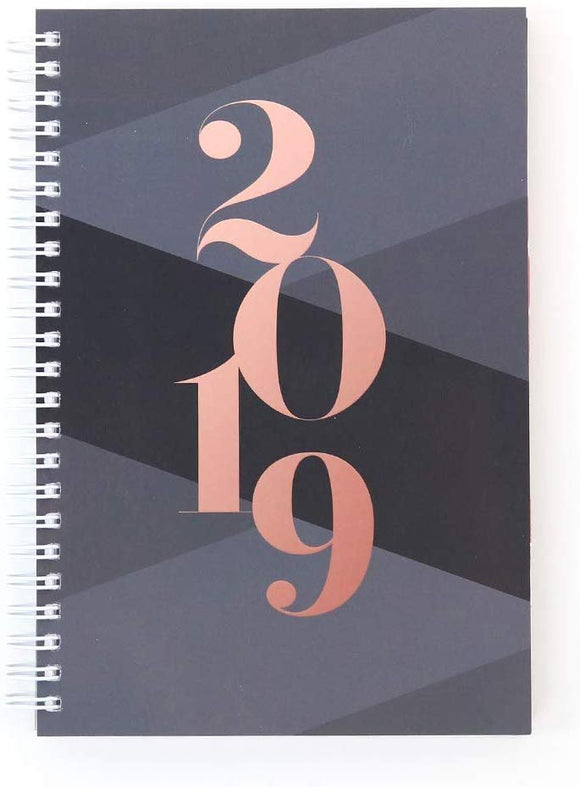 Abrie James 2019 Weekly Planner with Monthly Calendars Appointment Book, 8.5 x 11 inches, Premium Paper, Chic Fashionable Elegant (AJWP-002)