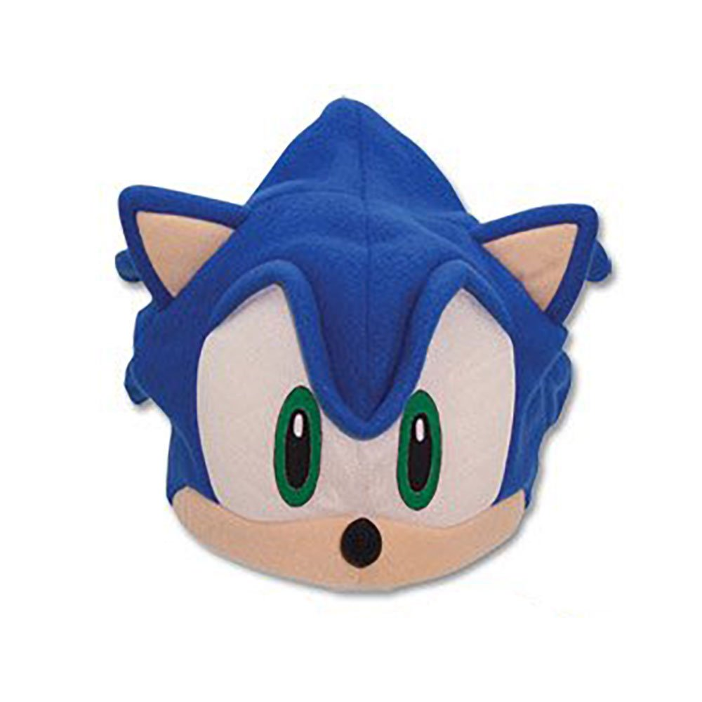 Sonic The Hedgehog Sonic Face Fleece Hat Thinkcooltoys