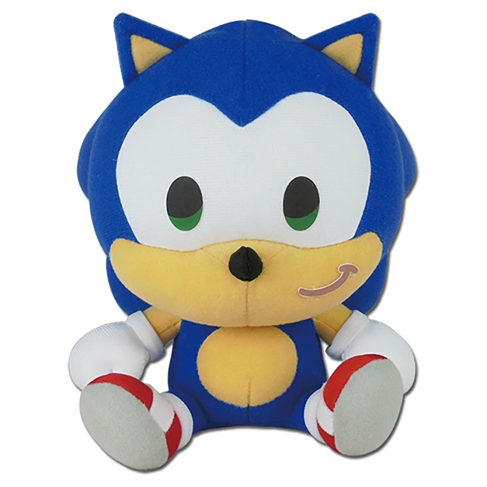 Sonic The Hedgehog Sd Sonic Sitting 7 Plush Toy Thinkcooltoys
