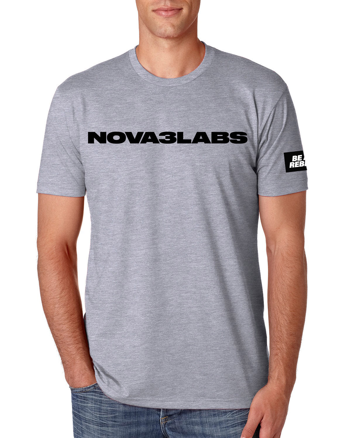 Nova3Labs Be A Rebel Grey Tee
