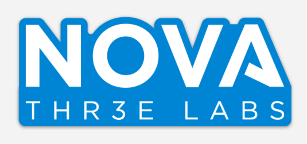 Nova 3 Labs blue sticker