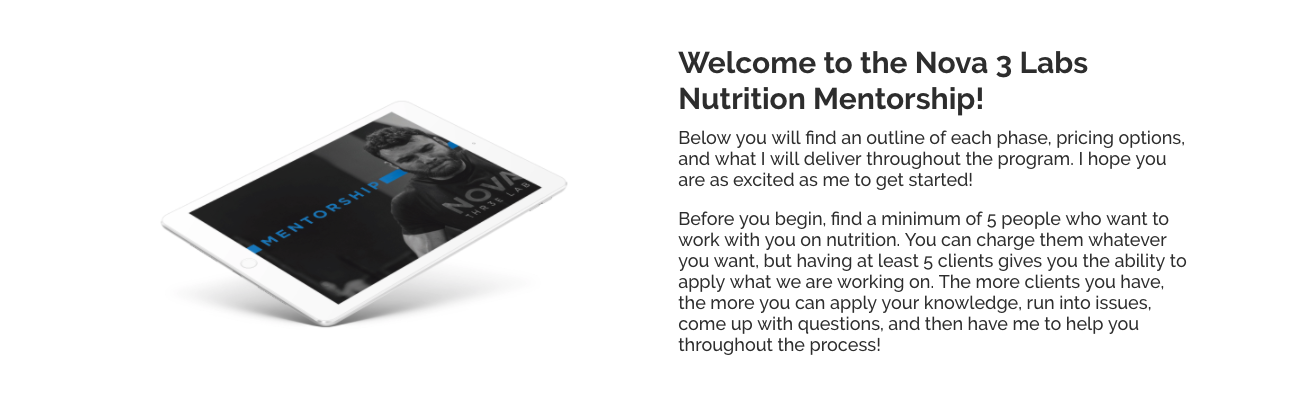 Nutrition Mentorship self-directed book ONLY**