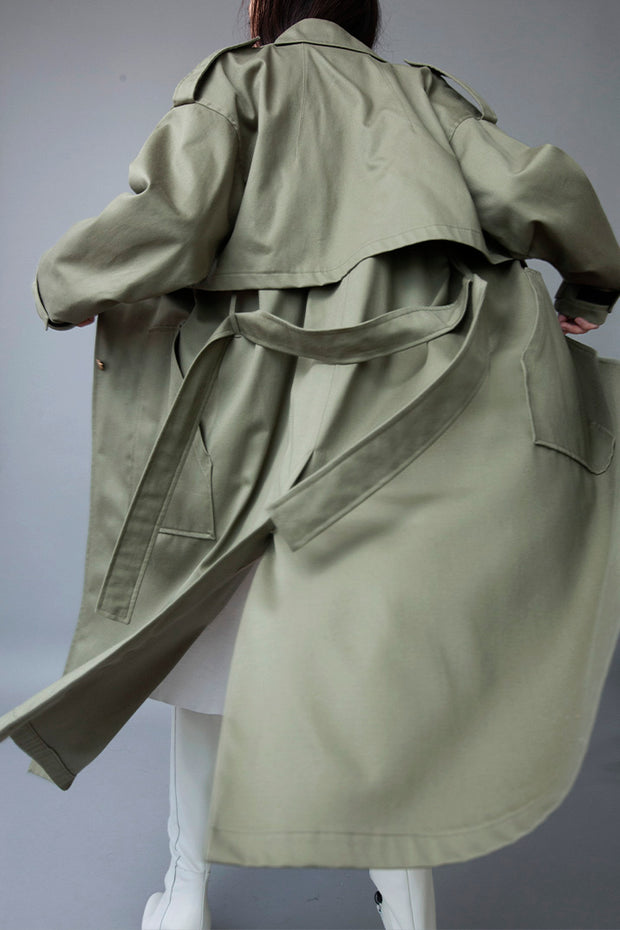 TWO-PIECE KHAKI TRENCH COAT