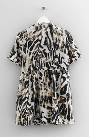 ANIMAL PRINT SILK DRESS
