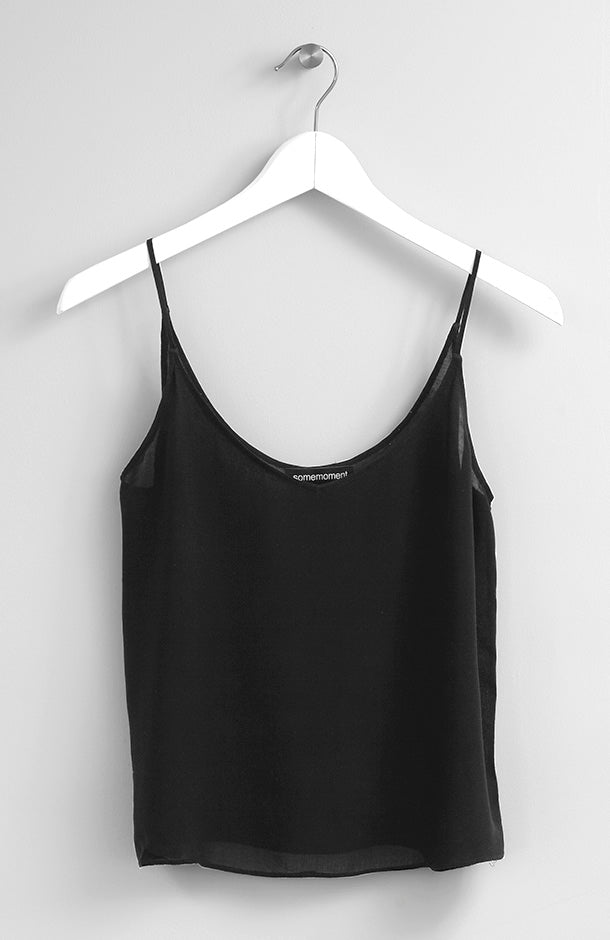 BLACK VISCOSE TOP