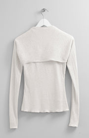 SEPARATE SLEEVES IVORY TOP