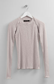 SEPARATE SLEEVES BEIGE TOP