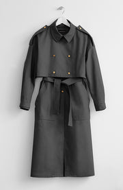 TWO-PIECE BLACK TRENCH COAT