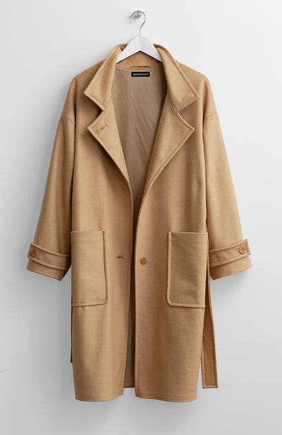 CASHMERE BELTED COAT