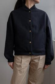 OVERSIZED BOMBER JACKET BLACK