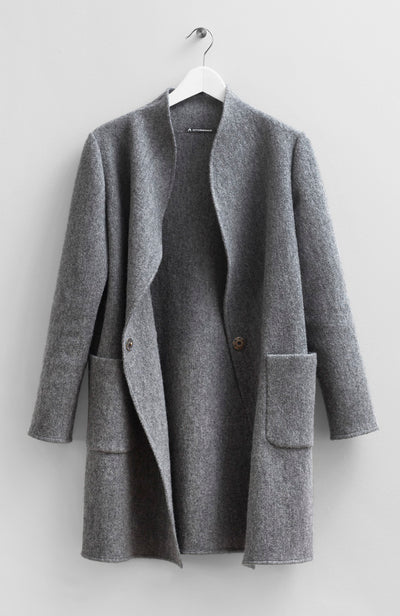 WOOL SWEATER COAT