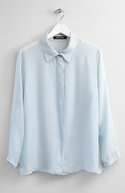 SILK BLUE SHIRT