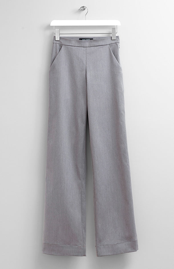 GREY WIDE-LEG PANTS