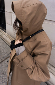 WATERPROOF BROWN COAT