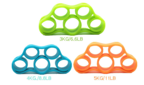 Silicone Finger Trainer Hand Gripper Resistance Bands Fitness - GATAME