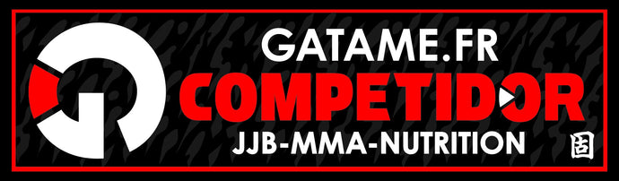 Patch JJB Rectangle GATAME noir - GATAME