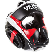 "Charger l'image dans la galerie, Casque MMA, MUAY THAI VENUM ""ELITE"" HEADGEAR - BLACK-RED-GREY - GATAME"