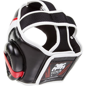 "Casque MMA, MUAY THAI VENUM ""ELITE"" HEADGEAR - BLACK-RED-GREY - GATAME"