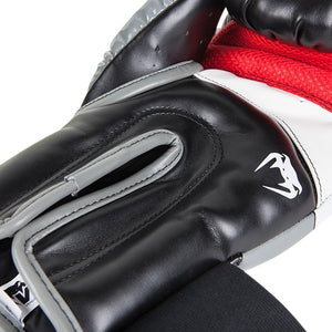 "Gant de Boxe-MMA - VENUM ""ELITE"" - BLACK-RED-GREY - GATAME"