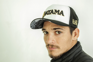 BLACK / WHITE ATAMA TRUCKER HAT - GATAME