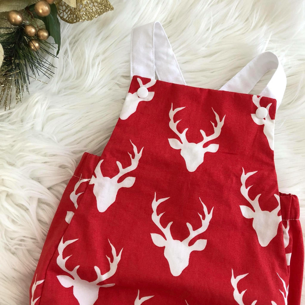 RM Dasher Red Vintage Romper Size 1