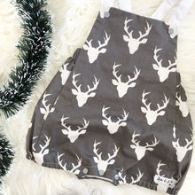 Load image into Gallery viewer, Dasher Grey Short Leg Romper