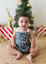 Load image into Gallery viewer, RM Comet Grey Vintage Romper Size 1