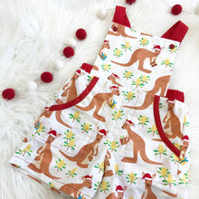 Load image into Gallery viewer, Kangaroo Xmas Overalls