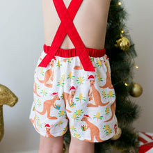 Load image into Gallery viewer, RM Kangaroo Xmas Overalls Size 3