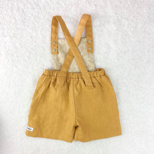 Load image into Gallery viewer, Mustard Linen Overalls