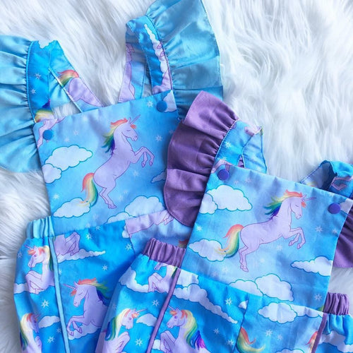 Rainbow Unicorn Playsuit