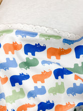 Load image into Gallery viewer, Rhino Party Cotton Swaddle
