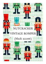 Load image into Gallery viewer, Nutcracker Vintage Romper (black accent)