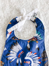 Load image into Gallery viewer, Cherokee Blue Traditional Bib