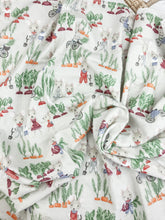 Load image into Gallery viewer, Garden Mice Flannelette Swaddle