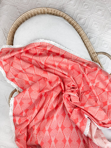 Coral Cotton Swaddle