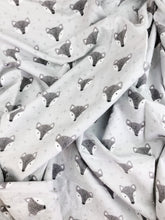 Load image into Gallery viewer, Silver Fox Flannelette Swaddle