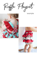 Load image into Gallery viewer, CUSTOM ORDER - RUFFLE PLAYSUIT