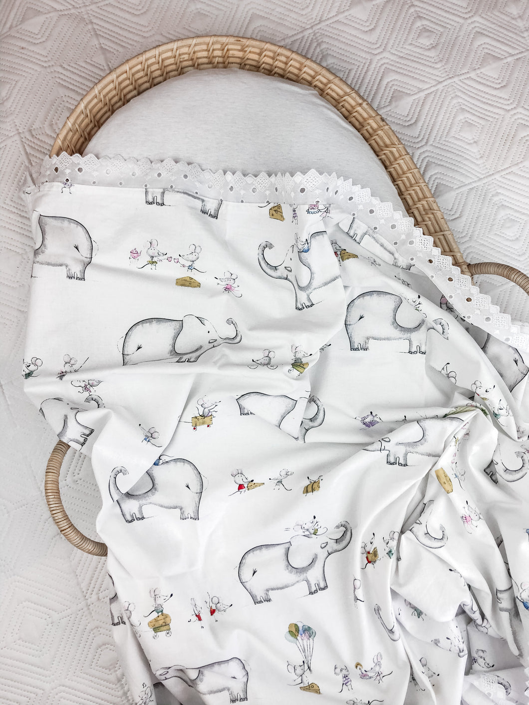 Elephant Cotton Swaddle