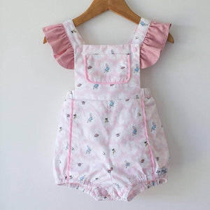 RM Cotton Tails Pink Playsuit with Ruffle Sleeves Size 2