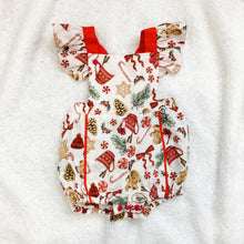 Load image into Gallery viewer, RM Santas Sweets Natural Playsuit with Ruffle Sleeves Size 1