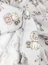 Load image into Gallery viewer, Tribal Grey Flannelette Swaddle