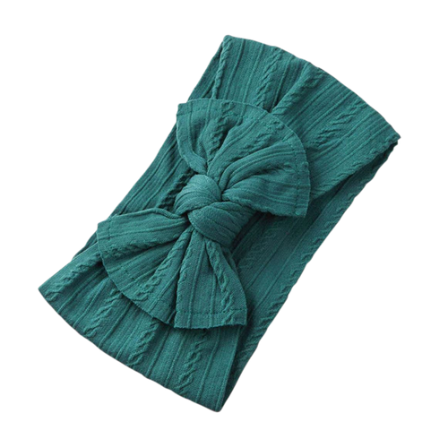 Soft Headband | Bow- Emerald