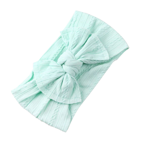Soft Headband | Bow - Mint