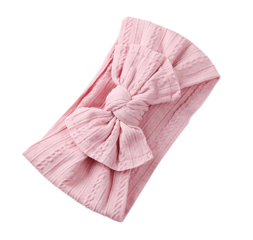 Soft Headband | Bow - Pink