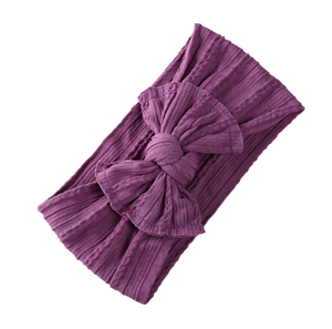 Soft Headband | Bow - Purple