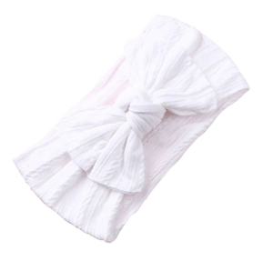 Soft Headband | Bow - White