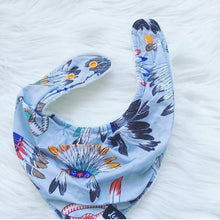 Load image into Gallery viewer, Cherokee Grey Street Bandana Bib