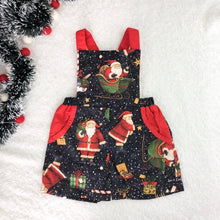 Load image into Gallery viewer, RM Merry Kringle Overalls Size 3